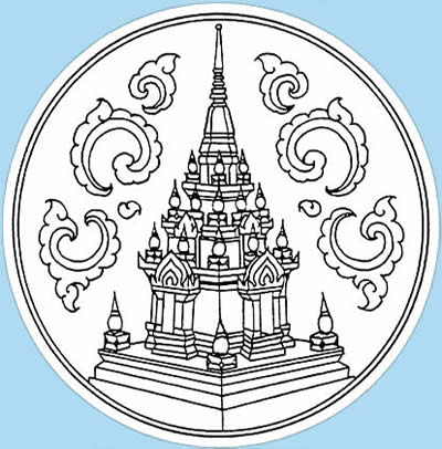 Surat Thani seal emblem province of Thailand
